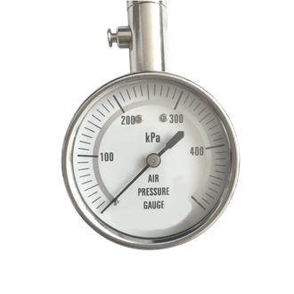 Tire Pressure Gauge Electroplated Case 40mm 0~500kpa