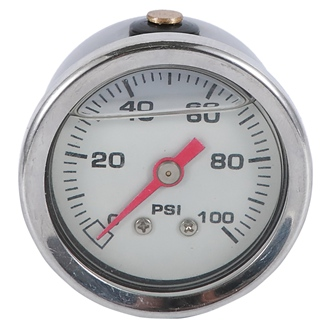 Bourdon Tube Pressure Gauge ss Case 40mm 0~100psi