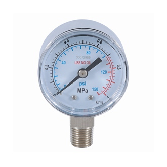 Bourdon Tube Pressure Gauge ss Case 40mm 0-1Mpa