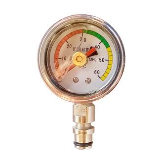 Bourdon Tube Pressure Gauge All Copper Alloys 50mm 0-60Mpa